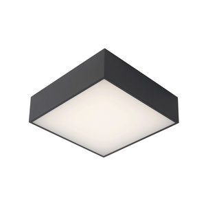 Lucide ROXANE - Flush ceiling light Bathroom - LED - 1x10W 2700K - IP54 - Anthracite