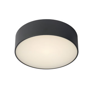 Lucide ROXANE - Flush ceiling light Bathroom - Ø 25 cm - LED - 1x10W 2700K - IP54 - Anthracite