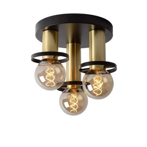 Lucide ANAKA - Flush ceiling light - Ø 30 cm - E27 - Black - 45179/13/30