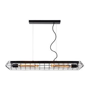 Lucide LATTICE - Hanging lamp - 2xE27 - Black - 05332/02/30