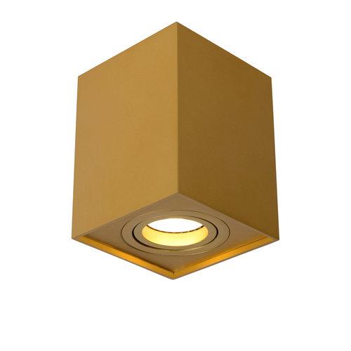 Lucide TUBE - Plafondspot - 1xGU10 - Mat Goud / Messing - 22953/01/02