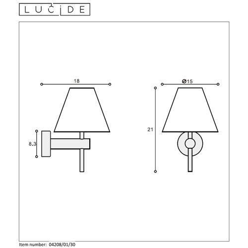 Lucide ROXY - Wandlamp Badkamer - 1xG9 - IP44 - Zwart - 04208/01/30