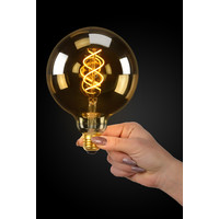 LED Bulb - Filament lamp - Ø 12.5 cm - LED Dim. - E27 - 1x5W 2200K - Amber