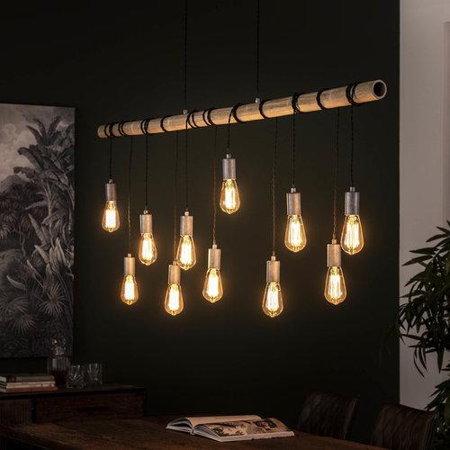 LioLights Hanglamp 11L bamboo wikkel