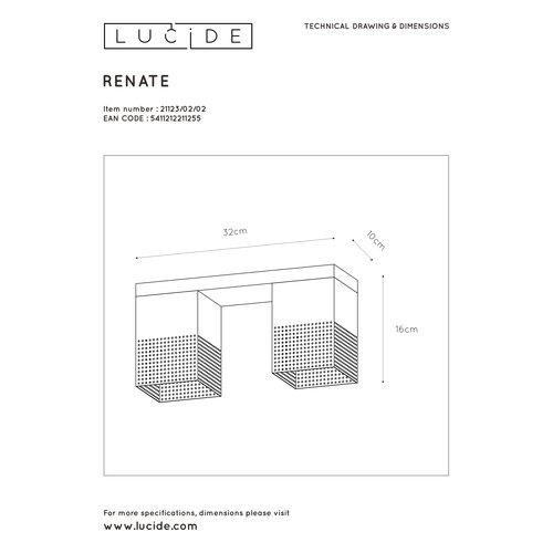 Lucide RENATE - Plafonnière - 2xE27 - Zwart - 21123/02/02
