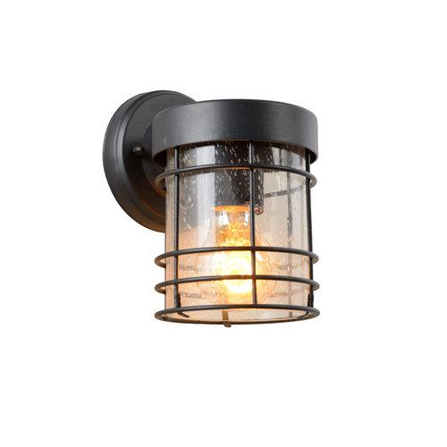 Lucide KEPPEL - Wandlamp Buiten - 1xE27 - IP23 - Zwart - 29824/01/30