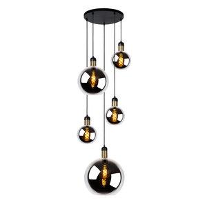 Lucide JULIUS - Hanging lamp - 5xE27 - Fumé - 34438/05/65