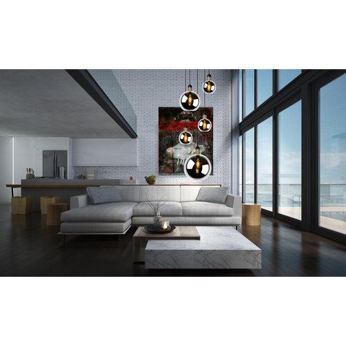 Lucide JULIUS - Hanglamp - 5xE27 - Fumé - 34438/05/65