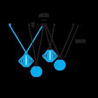 Wiro Decenter 4.0 Ophangset 2,6m Zwart