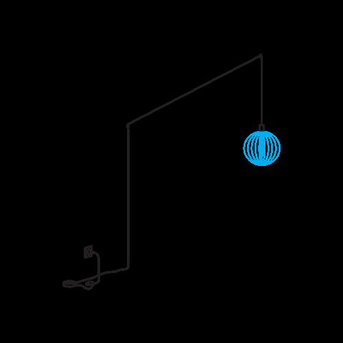 Wever & Ducré Wiro PLUG + PLAY, 8.5m, dimmer Black