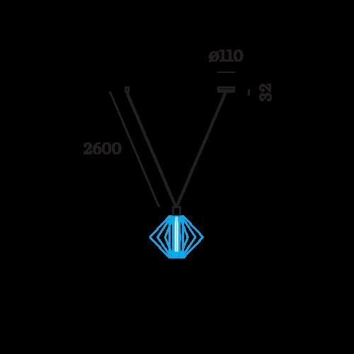 Wever & Ducré Wiro Decenter 1.0 Suspension set 2.6m Black