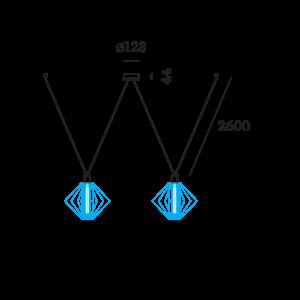 Wever & Ducré Wiro Decenter 2.0 Suspension Set 2.6m Black