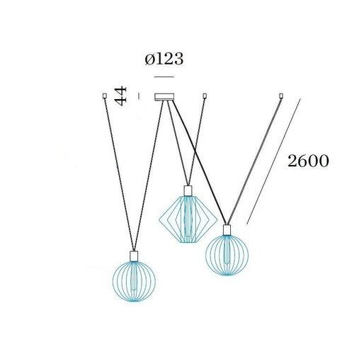 Wever & Ducré Wiro Decenter 3.0 Suspension Set 2.6m Black