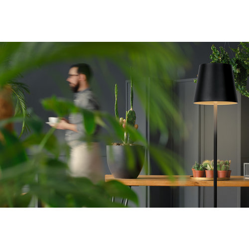 Lucide JUSTIN - Vloerlamp Buiten - LED Dimb. - 1x4,5W 3000K - IP54 - Zwart - 27888/05/30