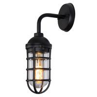 LIMAL - Wandlamp Buiten - 1xE27 - IP44 - Zwart - 11876/01/30