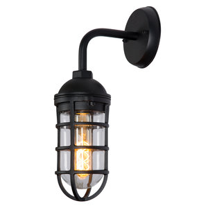 Lucide LIMAL - Wall lamp Outdoor - 1xE27 - IP44 - Black - 11876/01/30