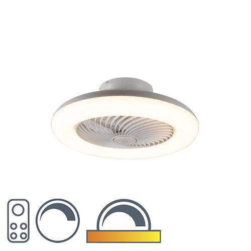 QAZQA Design plafondventilator wit incl. LED dimbaar - Clima