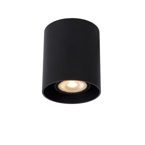 Lucide BODI - Ceiling spotlight - Ø 8 cm - 1xGU10 - Black - 09100/01/30