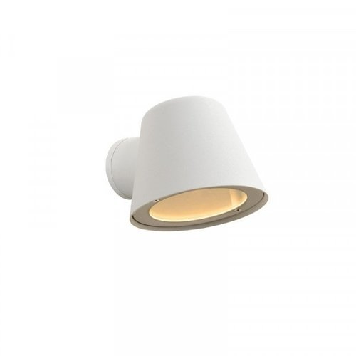 Lucide DINGO-LED - Wall lamp Outdoor - LED Dim. - GU10 - 1x5W 3000K - IP44 - White - 14881/05/31