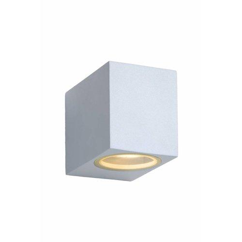 Lucide ZORA-LED - Wandspot Buiten - LED Dimb. - GU10 - 1x5W 3000K - IP44 - Wit - 22860/05/31