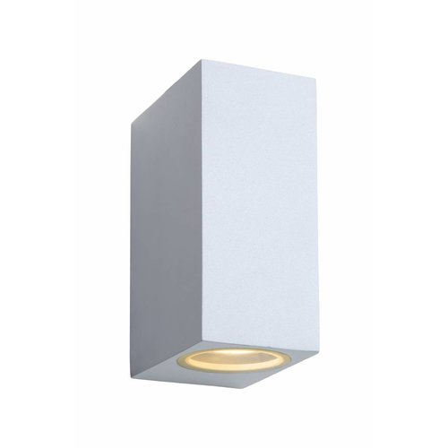 Lucide ZORA-LED - Wall spotlight Outdoor - LED Dim. - GU10 - 2x5W 3000K - IP44 - White - 22860/10/31
