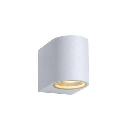 Lucide ZORA-LED - Wall spotlight Outdoor - LED Dim. - GU10 - 1x5W 3000K - IP44 - White - 22861/05/31