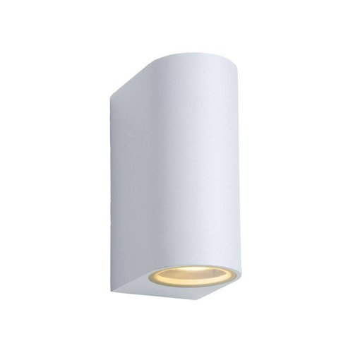 Lucide ZORA-LED - Wall spotlight Outdoor - LED Dim. - GU10 - 2x5W 3000K - IP44 - White - 22861/10/31