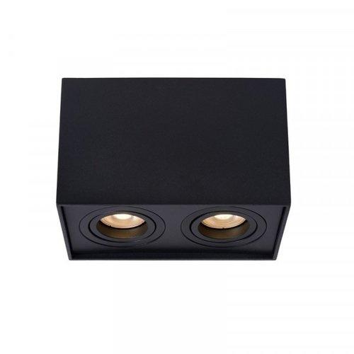 Lucide TUBE - Ceiling spotlight - 2xGU10 - Black - 22953/02/30