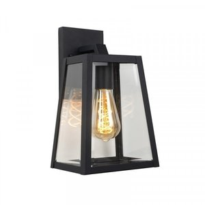 Lucide MATSLOT - Wall lamp Outdoor - 1xE27 - IP23 - Black - 29829/01/30