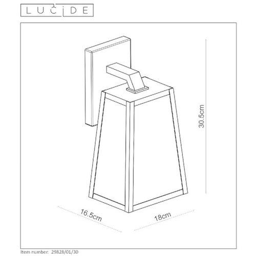 Lucide MATSLOT - Wandlamp Buiten - 1xE27 - IP23 - Zwart - 29829/01/30