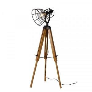 Lucide JOSHUA - Floor lamp - Ø 42 cm - 1xE27 - Black - 45757/01/30