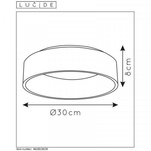 Lucide TALOWE LED - Plafonnier affleurant - Ø 30 cm - LED Dim. - 1x20W 3000K - Noir - 46100/20/30