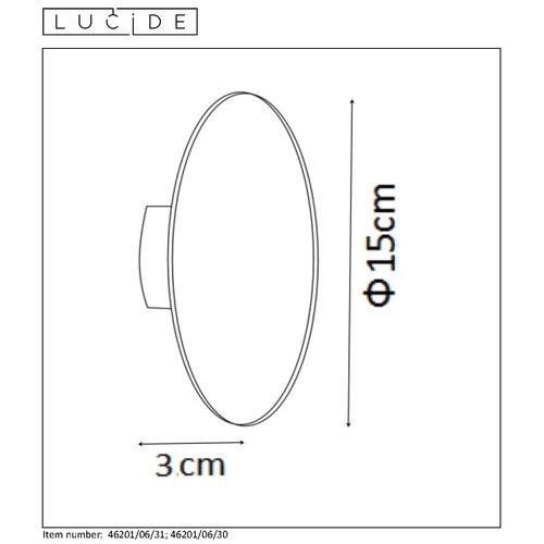 Lucide EKLYPS LED - Applique - Ø 15 cm - LED - 1x6W 3000K - Blanc - 46201/06/31