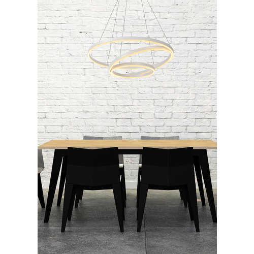 Lucide TRINITI - Suspension - Ø 80 cm - LED Dim. - 3000K - Blanc - 46402/99/31