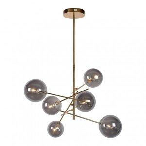 Lucide ALARA - Hanging lamp - Ø 72 cm - LED - G4 - 6x1,5W 2700K - Gold - 46412/06/10