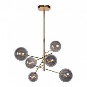 Lucide ALARA - Lampe à suspension - Ø 72 cm - LED - G4 - 6x1,5W 2700K - Or - 46412/06/10