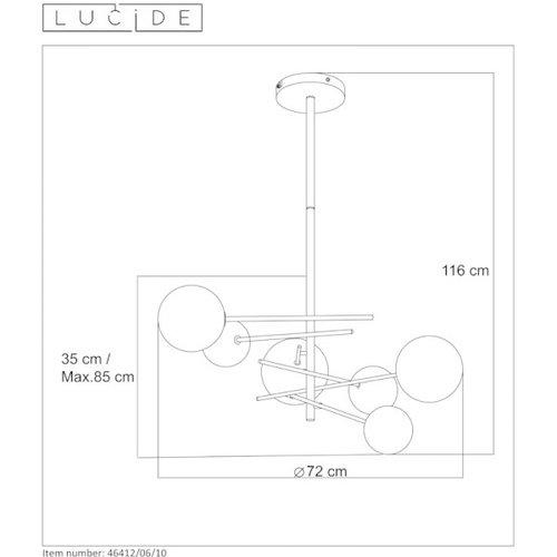 Lucide ALARA - Hanglamp - Ø 72 cm - LED - G4 - 6x1,5W 2700K - Goud - 46412/06/10