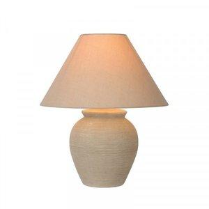 Lucide RAMZI - Lampe de table - Ø 34 cm - 1xE27 - Beige - 47507/81/38