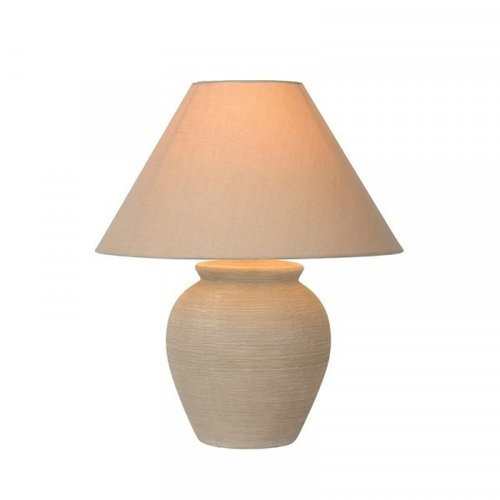 Lucide RAMZI - Table lamp - Ø 34 cm - 1xE27 - Beige - 47507/81/38