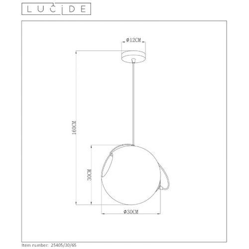 Lucide JAZZLYNN - Suspension - Ø 30 cm - 1xE27 - Fumé - 25405/30/65