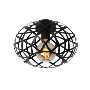 Lucide WOLFRAM - Ceiling lamp - Ø 30 cm - 1xE27 - Black - 21117/30/30