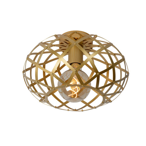 Lucide WOLFRAM - Flush ceiling light - Ø 30 cm - 1xE27 - Matt Gold / Brass - 21117/30/02