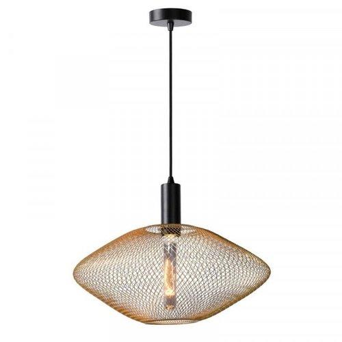 Lucide MESH - Pendant lamp - Ø 45 cm - 1xE27 - Matt Gold / Brass - 21423/45/02