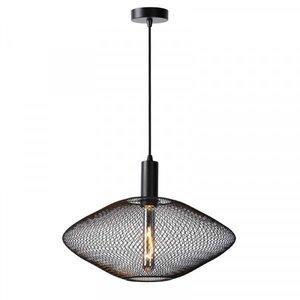 Lucide MESH - Pendant lamp - Ø 45 cm - 1xE27 - Black - 21423/45/30