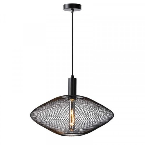 Lucide MESH - Hanglamp - Ø 45 cm - 1xE27 - Zwart - 21423/45/30