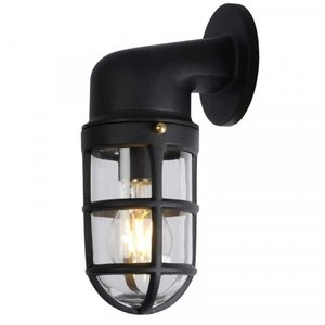 Lucide DUDLEY - Wall lamp Outdoor - 1xE27 - IP44 - Black - 11892/01/30
