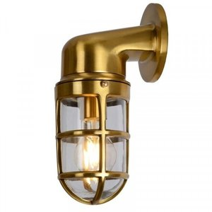 Lucide DUDLEY - Wall lamp Outdoor - 1xE27 - IP44 - Matt Gold / Brass - 11892/01/02