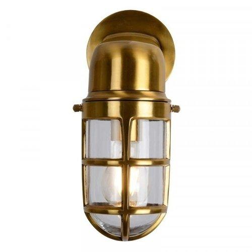 Lucide DUDLEY - Wall lamp Outdoor - 1xE27 - IP44 - Matt Gold / Brass - 11892/01/02