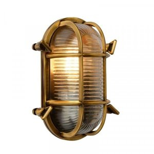 Lucide DUDLEY - Wall lamp Outdoor - 1xE27 - IP65 - Matt Gold / Brass - 11891/20/02