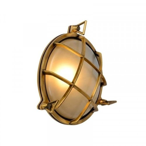 Lucide DUDLEY - Wall light Outdoor - Ø 25 cm - 1xE27 - IP65 - Matt Gold / Brass - 11890/25/02